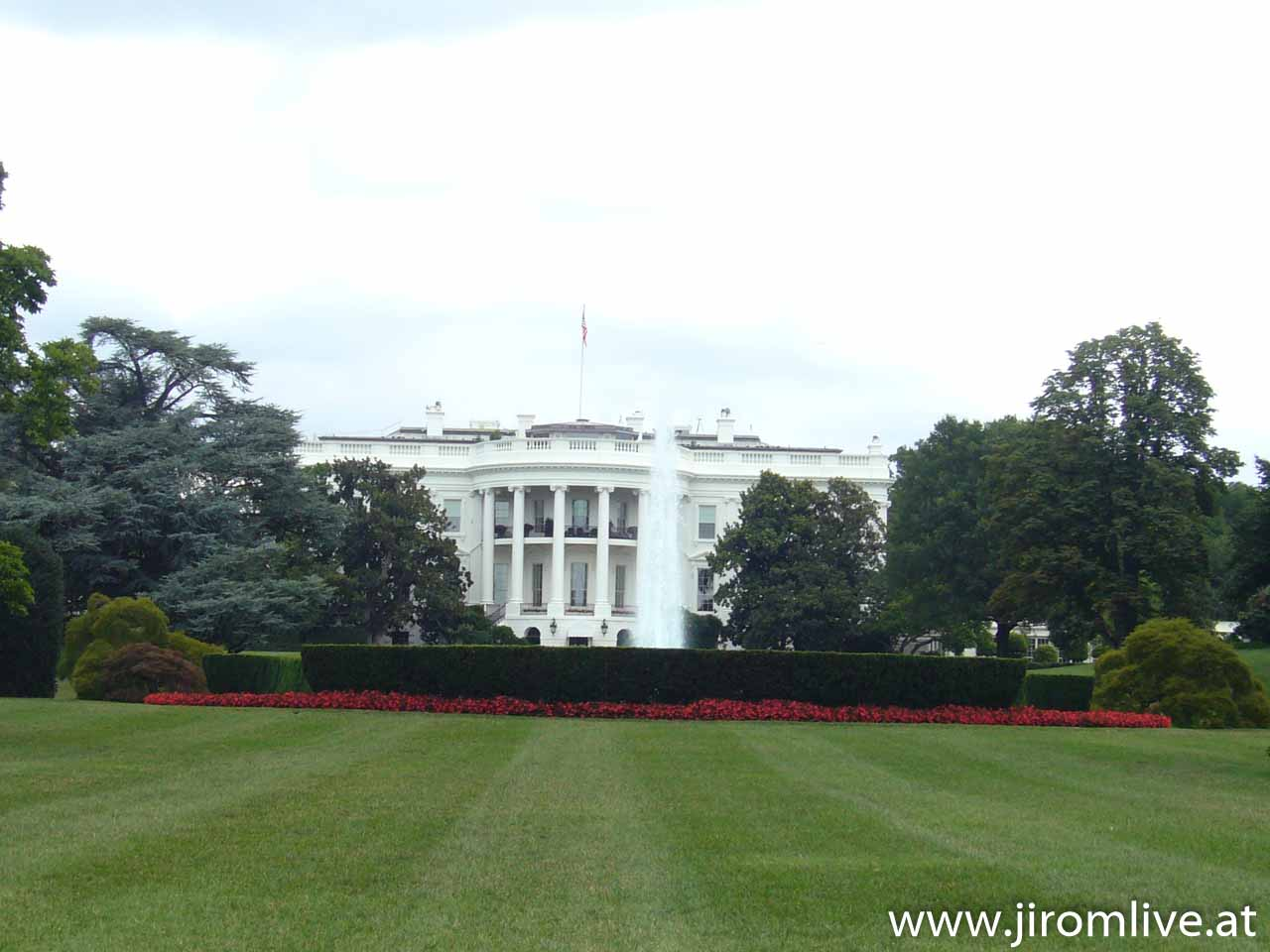 Das Weiße Haus in Washington D.C. - hier wohnt der Präsident der USA